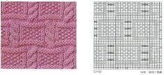 Узор с косами вязаный спицами. Pattern with braids knitting |