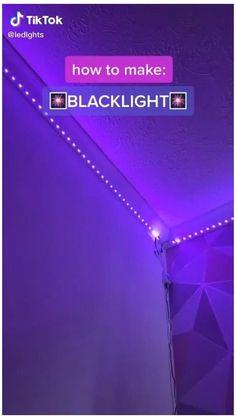 Easy Diy Room Decor, Decoration Bedroom, Cute Room Decor, Wall Decor, Led Room Lighting, Strip Lighting, Lighting Ideas, Lighting Design, Led Bedroom Lights