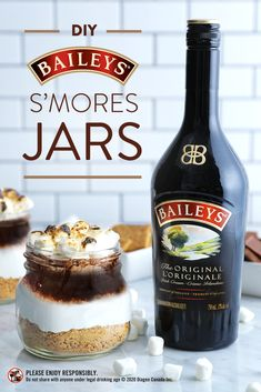 Packed with layers of irresistible flavor, these Baileys S'mores Jars are the perfect year-round treat. First, pile up the usual s'mores ingredients—graham crackers, toasted marshmallows, and melted chocolate. Then pour Baileys over the jar and get ready to dip your spoon in to savor all the delicious flavor. This dessert makes for the perfect movie night snack, or better yet, it's a weekend treat that you can make year-round!