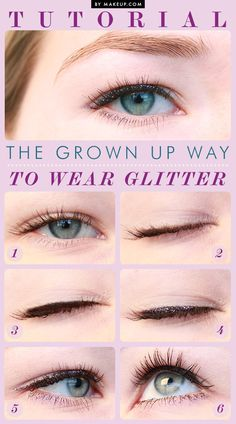 how to apply glitter eyeliner // sparkly eye makeup!