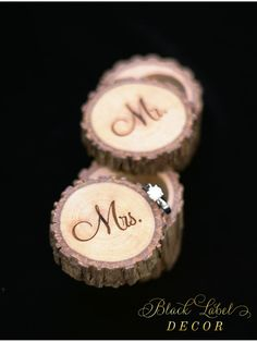 Rustic Hickory Wood Ring bearer Box, Tree Stump Ring Bearer Box - Cute Wedding, Anniversary, or Engagement gift!