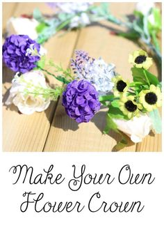 DIY flower crown for kids (or adults) to enjoy Spring and Summer fully!
