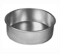 8 inch x 3 inch Round Aluminum Cake Pan