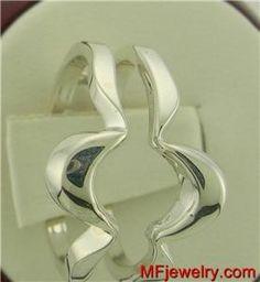 14kt White Gold WEDDING Ring Guard Wrap Enhancer lr116