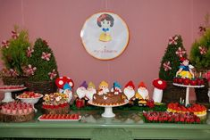 Isaac: Tema para festa - Branca de Neve e os Sete Anões