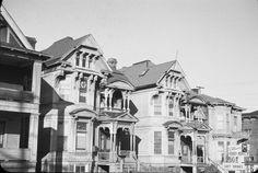 Vintage Portland...houses sw broadway north of market 8348 1955