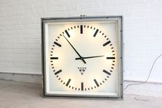 Large+Mid+Century+Czech+Light+Up+Station+Clock+Circa+1950