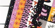 Summer is officially in full swing and I'm already thinking of Halloween and Fall hehe. It's okay to be prepared months in advance! Halloween Fabric, Halloween Prints, Halloween Coloring, Riley Blake, Basket, Candy, Fall, Summer, Projects
