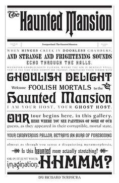 Haunted Mansion Typography