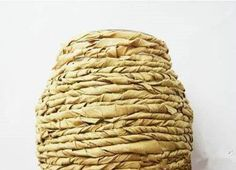 Hogyan DIY Kraft papír díszített Virág vázában 5