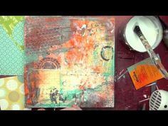 Can I just say, I LOVE Christy Tomlinson!! Her mixed media art videos are great!  Enjoy