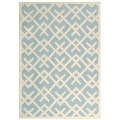 Handmade flatweave wool rug.    Product: RugConstruction Material: WoolColor: Light blue and ivoryFeatures:  Made in IndiaFlatweave Note: Please be aware that actual colors may vary from those shown on your screen. Accent rugs may also not show the entire pattern that the corresponding area rugs have.Cleaning and Care: Professional cleaning recommended