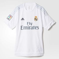 Real Madrid Home Replica Player Jersey - White Adidas Real Madrid 625213cfc7cc5