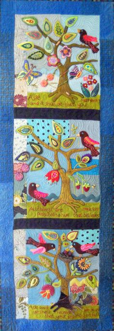 Ask, Believe, Receive Quilt Pattern - use wool or cotton--so adorable!