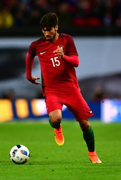 Andre Gomes of Portugal in action during the international friendly match between England and Portugal at Wembley Stadium on June 2, 2016 in London, England.