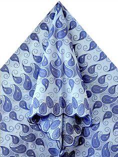 blue paisley lace