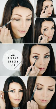 This Technique is so QUICK and easy!! 60 second smokey eye!