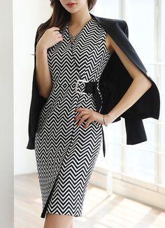 Korean Women`s Fashion Shopping Mall, Styleonme. Latest Fashion Trends, Runway Fashion, Womens Fashion, Business Outfits, Business Fashion, Cute Dresses, Beautiful Dresses, Cute Christmas Outfits, Church Fashion