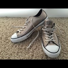 Converse All Star Trainers--Like New Portrait Gray Finish. A couple very minor scuffs on toe. Worn outside once. From smoke and pet-free home. Converse Shoes