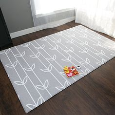 Baby Care Play Mat Haute Collection (Large, Sea Petals - Grey)
