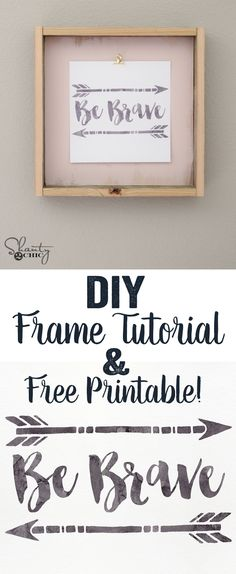 FREE Printable and DIY Frame Tutorial at www.shanty-2-chic.com... LOVE this!