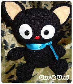 Chococat #kawaii amigurumi #gato negro #amigurumi