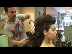 ▶ How To Create A Faux Hawk Tutorial For Women, For Medium And Long Hair, By Stuart Phillips - YouTube