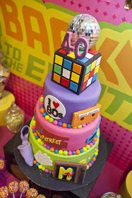 """Thought you would like to see the """"Back to the Eighties"""" party we styled recently, the wonderful cake is by 2 Sisters Cakes as are the cook. Eighties Party, 80s Party, Roller Skating Party, Skate Party, 80s Birthday Parties, 40th Birthday, Birthday Ideas, 80s Theme, Pac Man"""