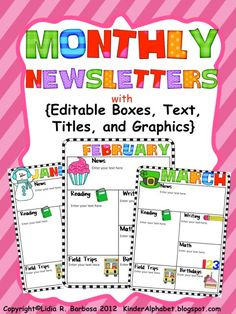 The Kissing Hand and Editable Newsletters