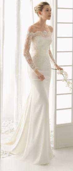 Rosa Clará Wedding Dresses Collection 2016   http://www.tulleandchantilly.com/blog/rosa-clara-wedding-dresses-collection-2016/