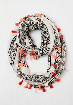 infinity tassel scarf