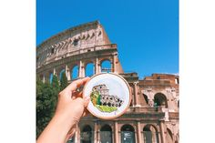 """Rome, Italy ☁️Teresa☁️ (@Teresa Lim)'s Instagram photos   Teresa Lim spends two hours soaking in the energy of each travel spot while she embroiders what most would snap a quick shot of. In her series called """"Sew Wanderlust"""" she brings us around the world with her and photographs each finished stitch work with the background that inspired it."""