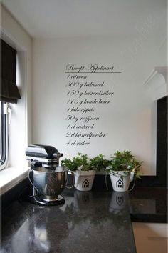 Recepten muur