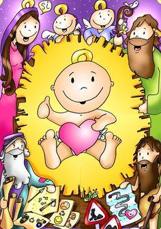 Natividad. Nos ha nacido El Salvador, por eso daremos eternamente gracias a Dios !!!