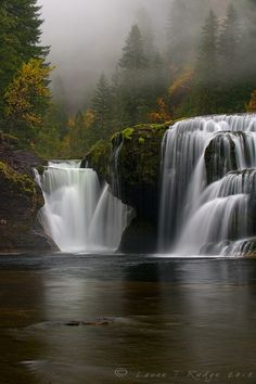 Lovely Lower Lewis River Falls