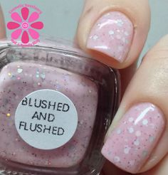 Serum No 5 Blushed and Flushed Swatch - Cosmetic Sanctuary; Brand: Serum No 5, Name: Blushed and Flushed, Collection: SS14, Color: Pink, Shade: Pastel, Finish: Crème, Type: Glitter