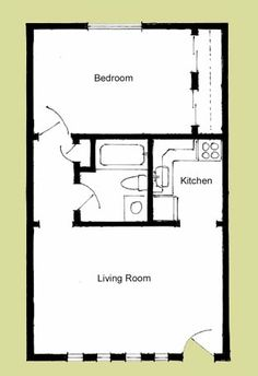 One Room Cabin Floor Plans | Elliott Apartments Floorplans... Add a loft and a porch.... Perfect!