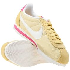 Nike Classic Cortez Womens Trainers in Gold White