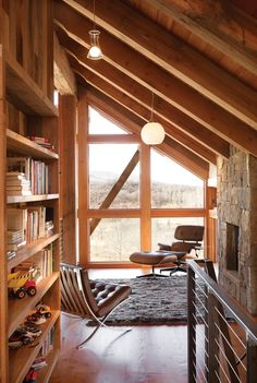 what a great little nook. beautiful window and little fireplace