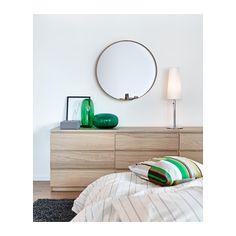 MALM Cómoda c/6 gavetas - chapa de carvalho c/velatura branca - IKEA