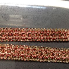 Vintage trim - 2 pieces by Mywaycrochet on Etsy