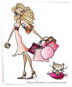 Shopaholic by romaniillustrations, via Flickr| Be Inspirational❥|Mz. Manerz: Being well dressed is a beautiful form of confidence, happiness & politeness