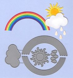 35 Rainbow Colour Heart Shaped Card Cut Outs For Crafts 70mm x 62mm NEW