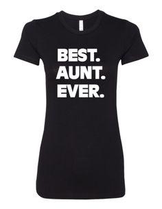 Best Aunt Ever LL 6004 Slogan Humorous Premium Women's Crewneck T-Shirt