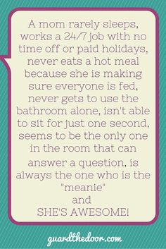 Thought for the Day…for Moms. Please share if you know someone like this! #mom