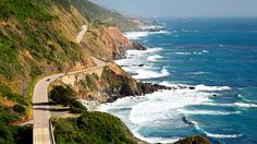 California  The Pacific Coast Highway winds along the dramatic Northern California coastline.