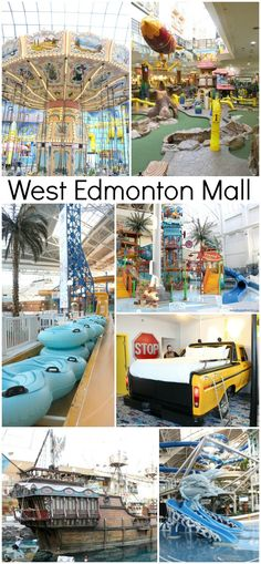 West Edmonton Mall - so many fun things to do inside this mall like the World Waterpark, Galaxyland amusement park, mini golf, ice skating, and so much more!