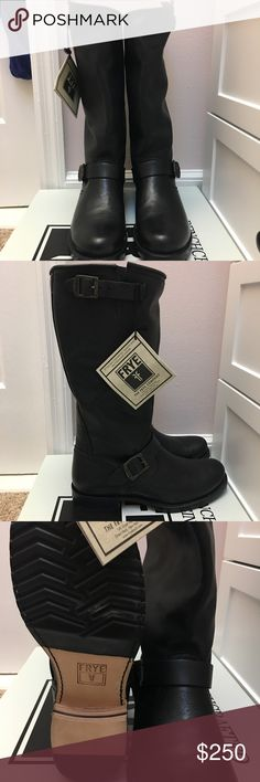 Frye Veronica Slouch Boot, size 10, NEVER WORN Fabulous Frye Veronica Slouch Boots in soft black leather. These beauties have never been worn! Still have original Frye tags and will ship in original Frye box. Make me an offer! Frye Shoes