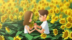 Sunflower, Beomjin Kim on ArtStation at https://www.artstation.com/artwork/l89Dz