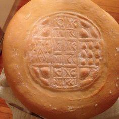 Prosfora. Eastern Orthodox Church bread. Church Ideas, My Brain, Faith, Icons, Bread, Food, Symbols, Breads, Hoods